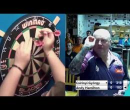 Embedded thumbnail for Andy Hamilton vs Csirinyi György 2016-11-18 Smile Darts Club