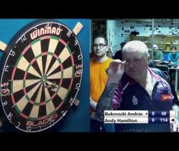Embedded thumbnail for Andy Hamilton vs Bukovszki András 2016-11-18 Smile Darts Club